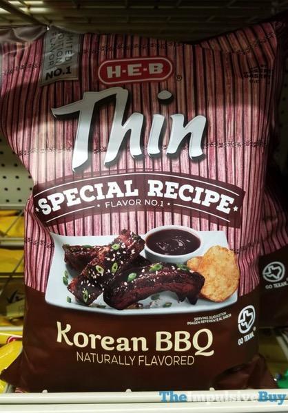 H E B Thin Special Recipe Flavor No 1 Korean BBQ Potato Chips