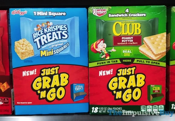 Kellogg s Rice Krispies Treats and Keebler Club Peanut Butter Sandwich Crackers Just Grab  n Go
