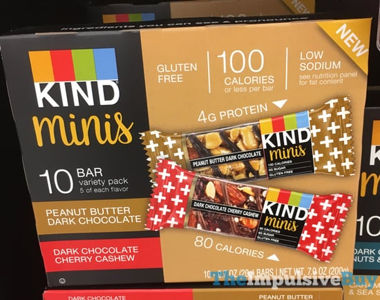 Kind Minis  Peanut Butter Dark Chocolate and Dark Chocolate Cherry Cashew