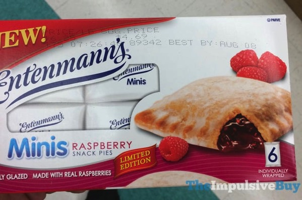 Limited Edition Entenmann s Minis Raspberry Snack Pies