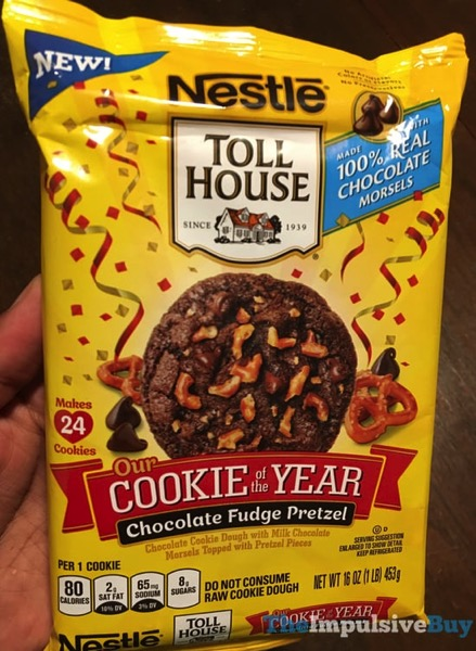 Nestle Toll House Cookie of the Year Chocolate Fudge Pretzel Cookie Dough