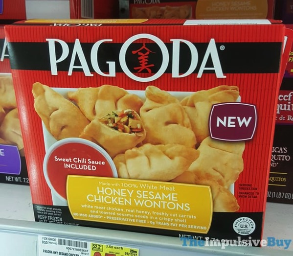 Pagoda Honey Sesame Chicken Wontons