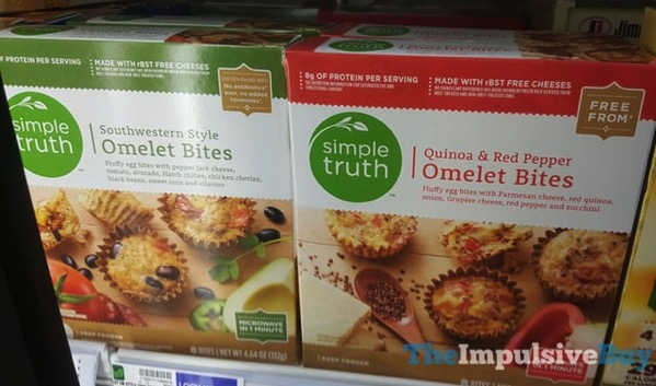 Simple Truth Omelet Bites  Southwestern Style and Quinoa  Red Pepper