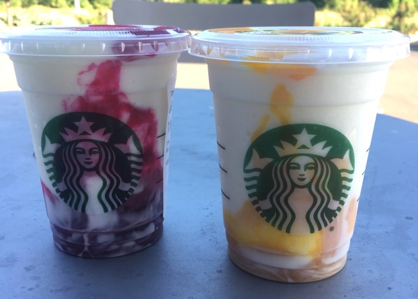 Starbucks Berry Prickly Pear and Mango Pineapple Frappuccino Cremes