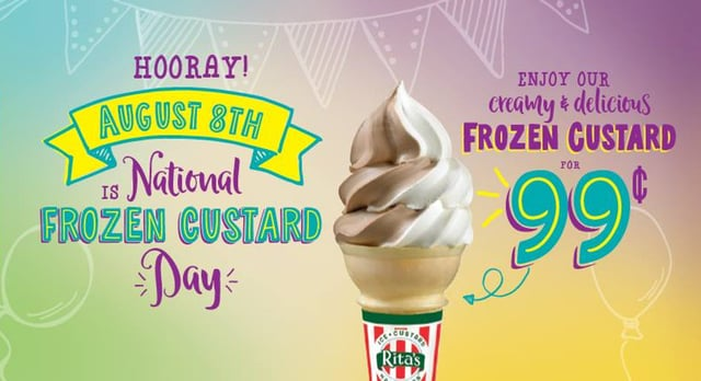 99 Cent Custard at Rita s Today