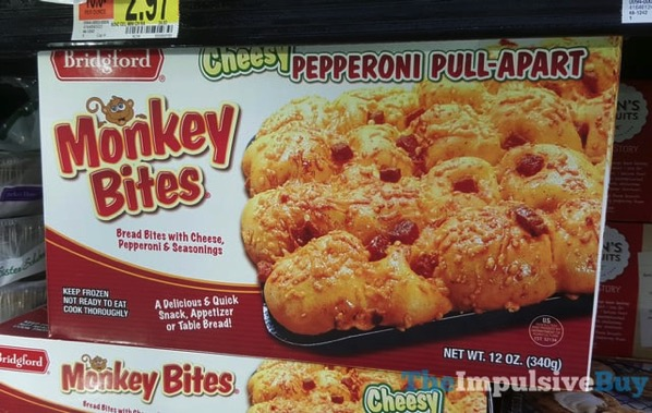Bridgford Cheesy Pepperoni Pull Apart Monkey Bites