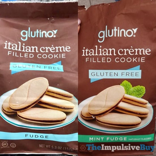 Glutino Gluten Free Italian Creme Filled Cookie  Fudge and Mint Fudge