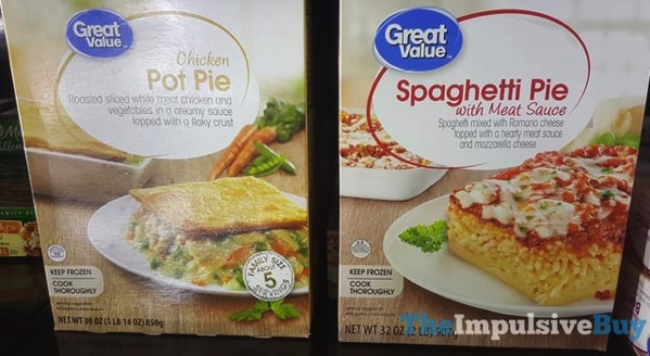 Great Value Chicken Pot Pie and Spaghetti Pie