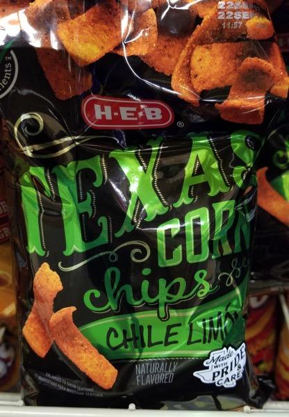 H E B Chile Lime Texas Corn Chips