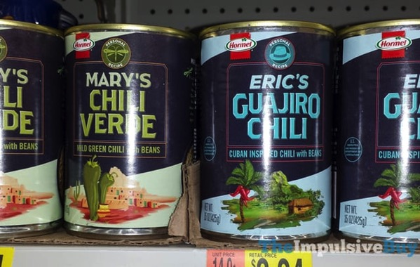Hormel Personal Recipe Mary s Chili Verde and Eric s Guajiro Chili