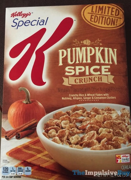 Kellogg s Special K Limited Edition Pumpkin Spice Crunch Cereal  2017