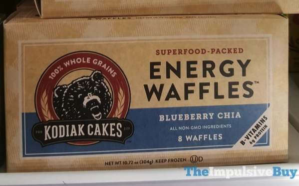Kodiak Cakes Blueberry Chia Energy Waffles