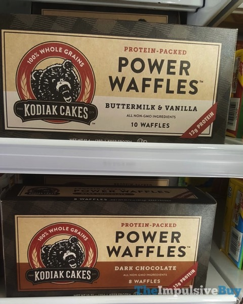 Kodiak Cakes Power Waffles  Buttermilk  Vanilla and Dark Chocolate