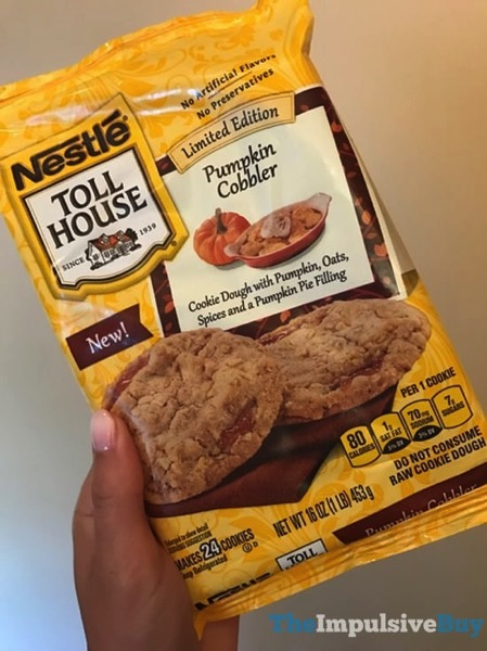 Limited Edition Nestle Toll House Pumpkin Cobbler Cookie Dough