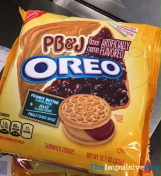 Limited Edition PB J Oreo Cookies