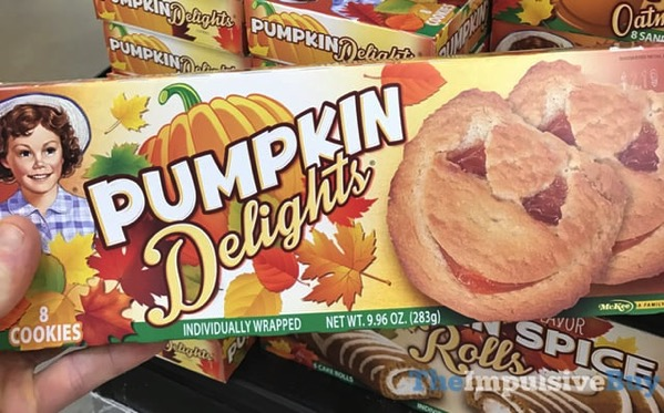 Little Debbie Pumpkin Delights Cookies  2017