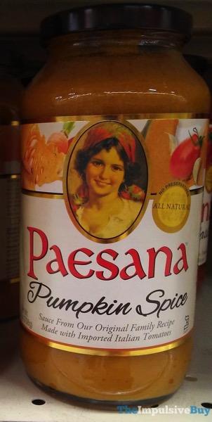 Paesana Pumpkin Spice Pasta Sauce
