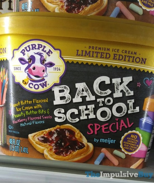 Purple Cow Limited Edition Back to School Special Ice Cream