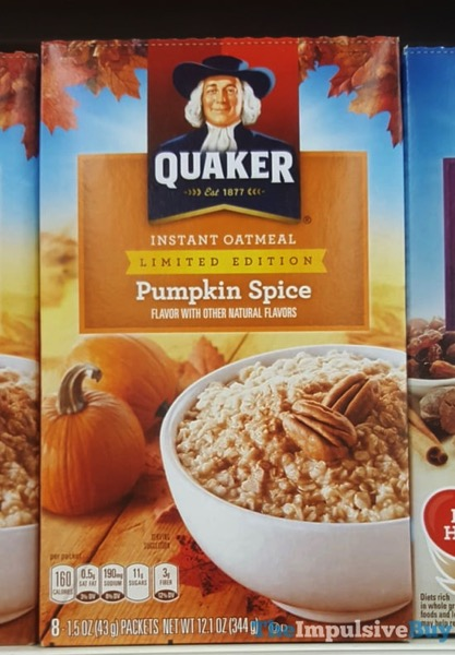 Quaker Limited Edition Pumpkin Spice Instant Oatmeal  2017