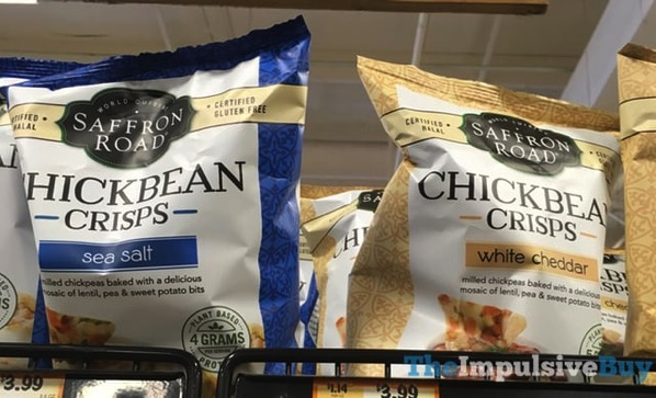 Saffron Road Chickbean Crisps  Sea Salt and White Cheddar