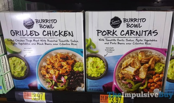 Sam s Choice Burritos Bowls  Grilled Chicken and Pork Carnitas