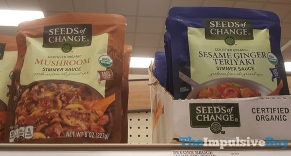 Seeds of Change Simmer Sauces  Mushroom and Sesame Ginger Teriyaki