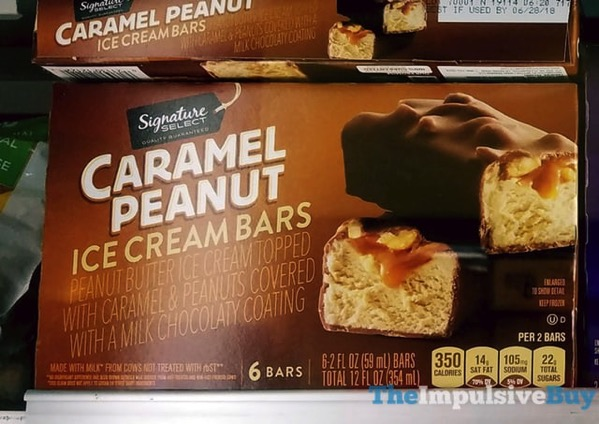 Signature Select Caramel Peanut Ice Cream Bars