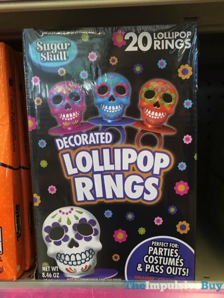 Sugar Skull Decorated Lollipop Rings