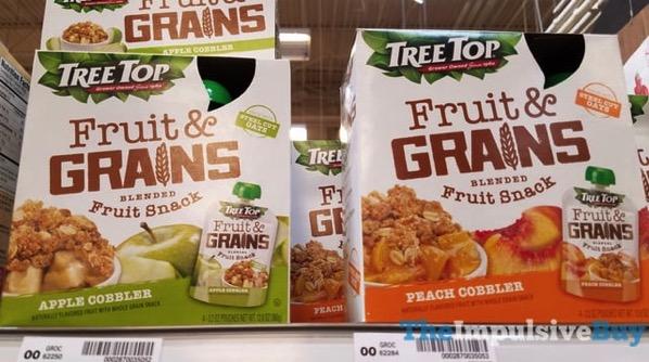 Tree Top Fruits  Grains Blended Fruit Snack  Apple Cobbler and Peach Cobbler