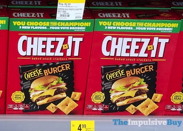 You Choose the Champion Cheeseburger Cheez It