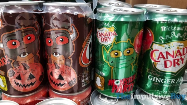 A W Root Beer and Canada Dry Ginger Ale 2017 Monster Cans
