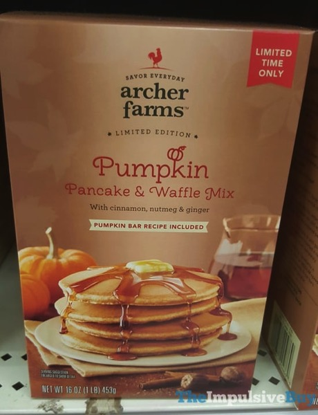 Archer Farms Limited Edition Pumpkin Pancake  Waffle Mix  2017