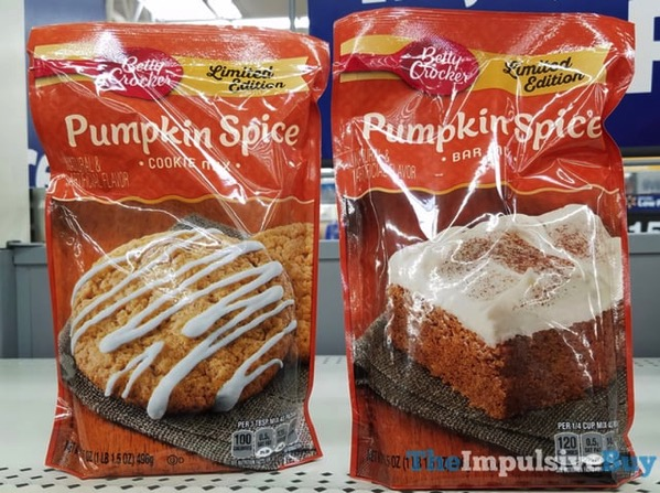 Betty Crocker Limited Edition Pumpkin Spice Cookie Mix and Bar Mix  2017