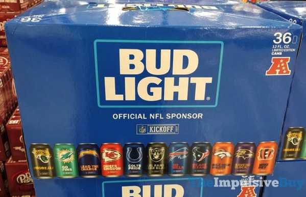 Bud Light 2017 Limited Edition NFL Cans 1