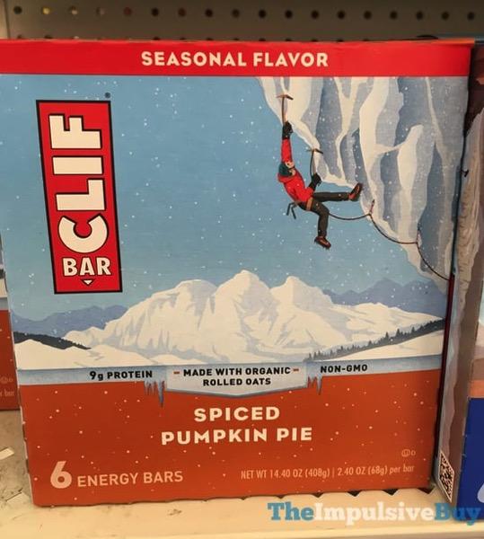 Clif Bar Spiced Pumpkin Pie  2017