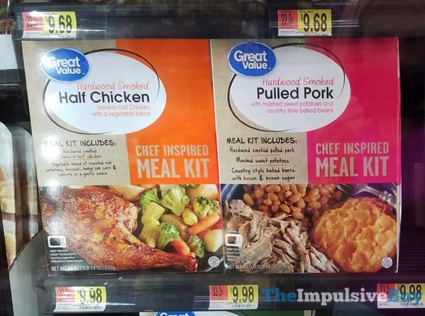 Great Value Half Chicken and Pulled Pork Chef Inspired Meal Kits