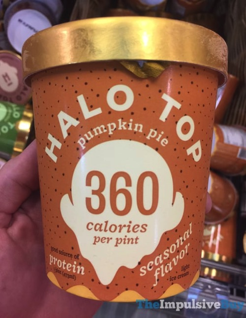 Halo Top Seasonal Flavor Pupmkin Pie Ice Cream