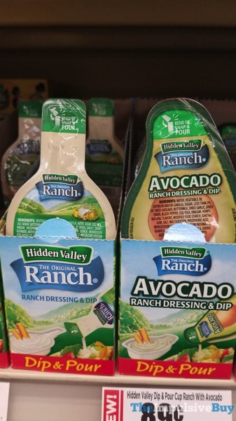 Hidden Valley Dip  Pour  Original Ranch and Avocado Ranch