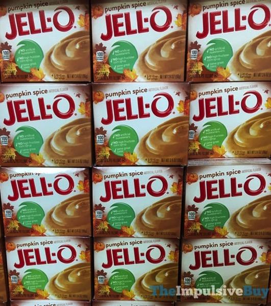 Jello Pumpkin Spice Instant Pudding Mix  2017