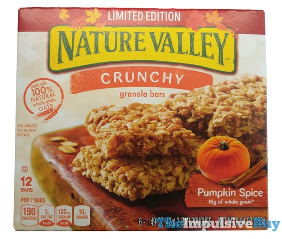 Limited Edition Nature Valley Pumpkin Spice Crunchy Granola Bars