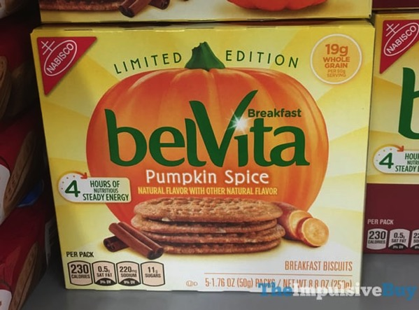 Limited Edition belVita Pumpkin Spice Breakfast Biscuits  2017