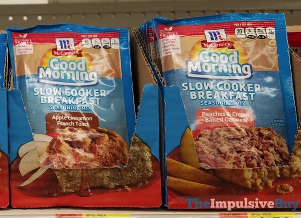 McCormick Good Morning Slow Cooker Breakfast Seasoning Mix  Apple Cinnamon French Toast and Peach  Cream Baked Oatmeal