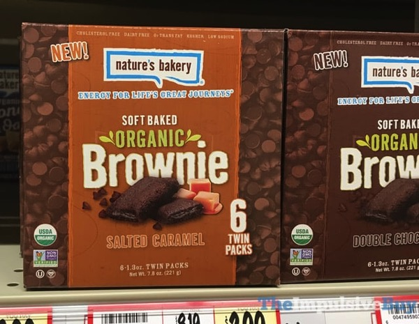 Nature s Bakery Soft Baked Organic Brownie  Salted Caramel and Double Chocolate