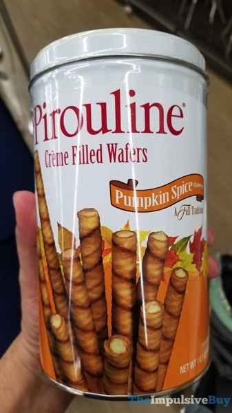 Pirouline Pumpkin Spice Creme Filled Wafers  2017