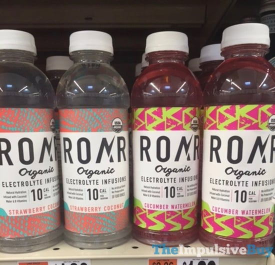 Roar Organic Electrolyte Infusions  Strawberry Coconut and Cucumber Watermelon