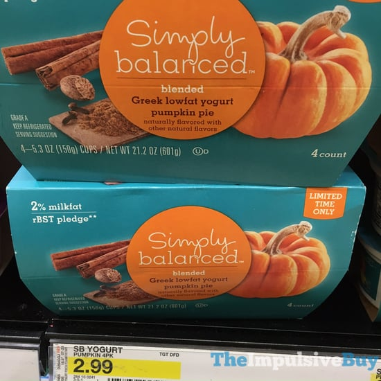 Simply Balanced Pumpkin Pie Greek Lowfat Yogurt  2017