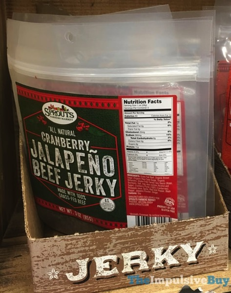 Sprouts Cranberry Jalapeno Beef Jerky