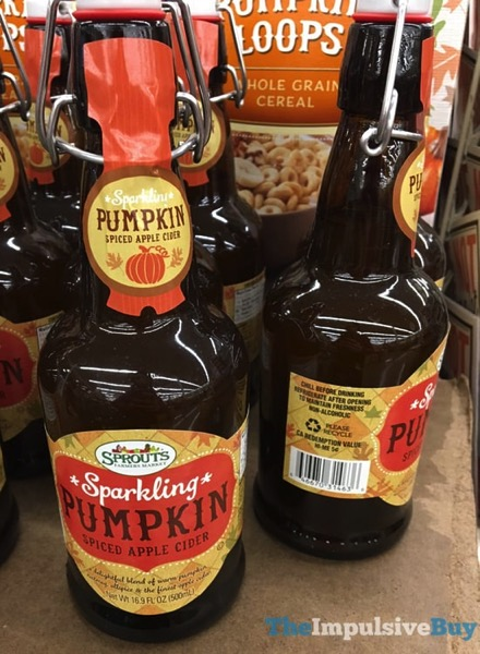 Sprouts Sparkling Pumpkin Spiced Apple Cider  2017