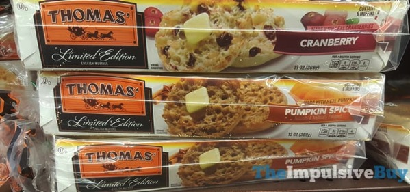 Thomas Limited Edition Pumpkin Spice English Muffins