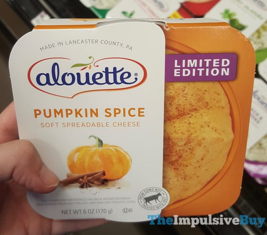 Alouette Limited Edition Pumpkin Spice Soft Spreadable Cheese  2017